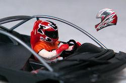 Race Planet helm aangepast