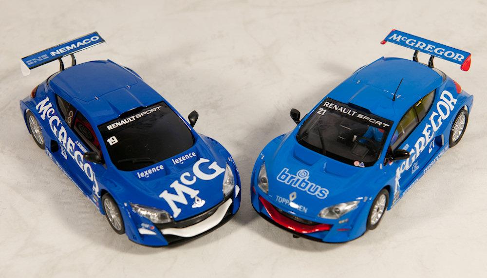 Vergelijking Ninco vs SCX Renault Megane
