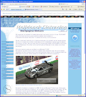 Layout van de nieuwe site