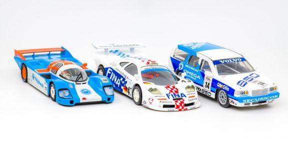 3 zelf gemaakte slotcars